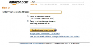 Amazon capturing email process example